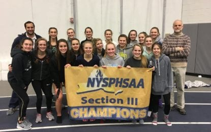 Girls Hornets run to sectional AA indoor track title