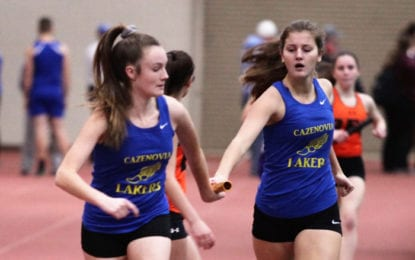 Indoor track girls second at OHSL championship