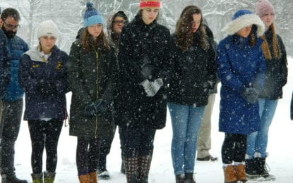 Cazenovia remembers school shooting victims with 17 minutes of silence