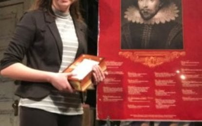 CBA's Moffa Wins Regional Shakespeare Competition