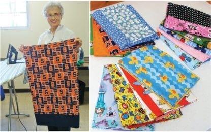 Church members make pillowcases for kids at Golisano