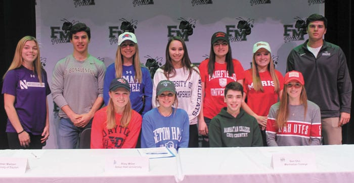 Eleven F-M student-athletes sign National Letters of Intent