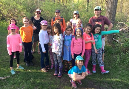 F-M Brownie troop creates Monarch butterfly habitat in Mill Run Park