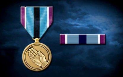DeWitt soldier receives Humanitarian Service Award