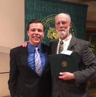 Retired Cazenovia High School Teacher Ronald Luteran Receives Clarkson University Inspirational Educator Award