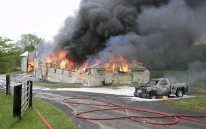 Cazenovia barn destroyed by massive fire