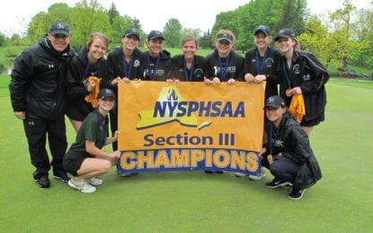 F-M girls golfers win rain-soaked sectional tournament