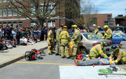 A DOSE OF REALITY: Mock DWI event shows teens consequences of drinking and driving