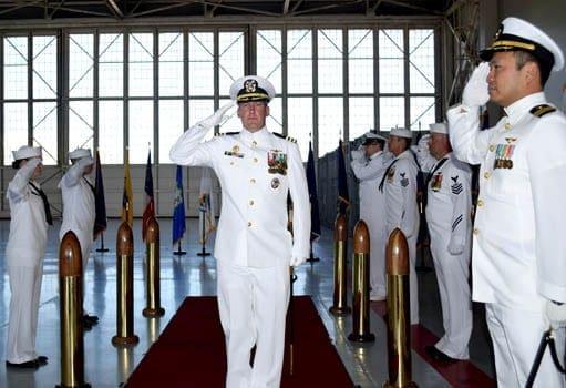 Cazenovian ends tenure in command of Navy 'Minutemen' squadron