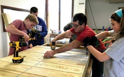 Lincklaen Shamrocks help build wheelchair ramps