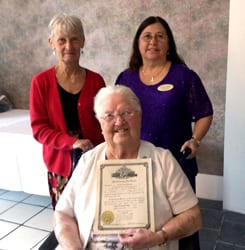 Stauring honored for 75 years in The Order of the Eastern Stars