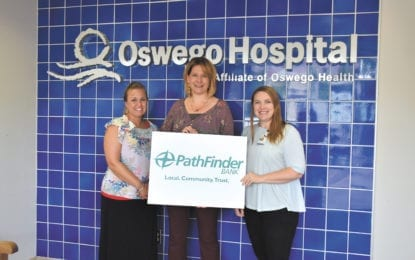 Pathfinder Bank sponsors Oswego Health Foundation's 5K Run For Your Health event