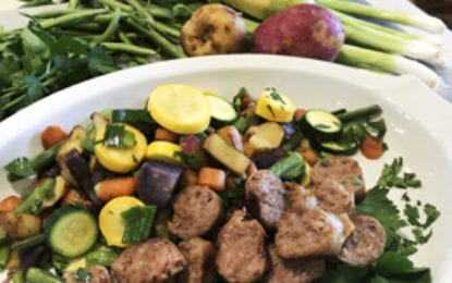 WHAT WE'RE EATING: Summer Vegetable Medley with Italian Sausage