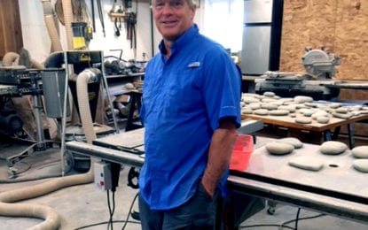 Local builder shows art works at New Woodstock Free Library