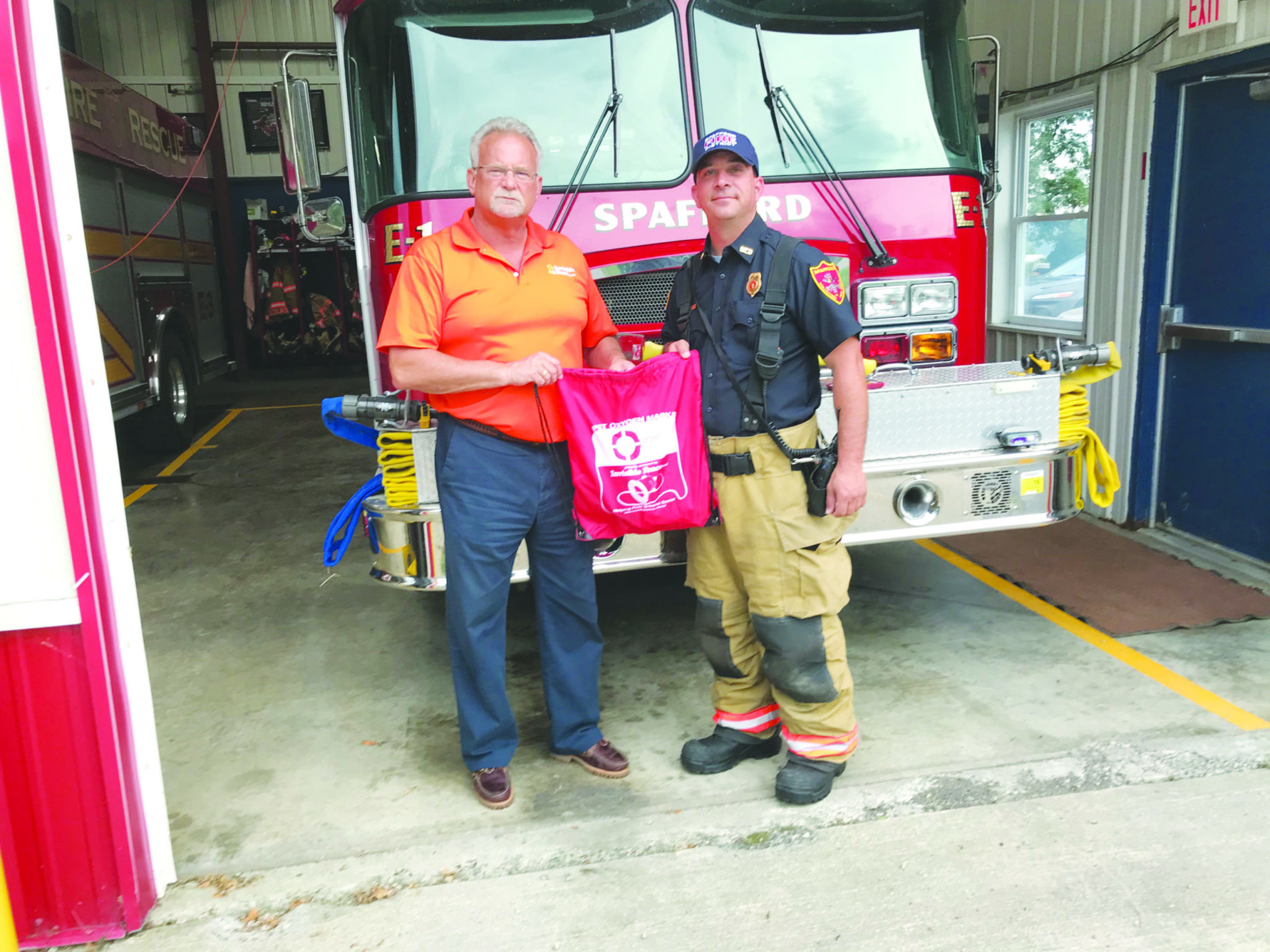 Spafford FD receives donation