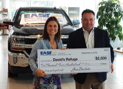 East Syracuse Chevrolet >> Eagle News Online East Syracuse Chevrolet Raises 2 500 To