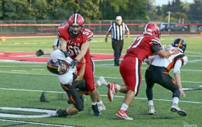 B'ville football gets into win column – twice