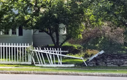 Man arrested for drunk driving plows through stone wall into yard on Lincklaen Street