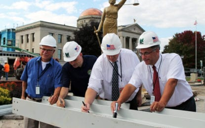 Madison County courthouse 'topping out ceremony' held