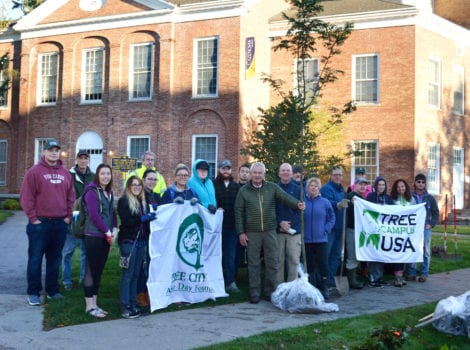 Cazenovia College takes part in community tree planting