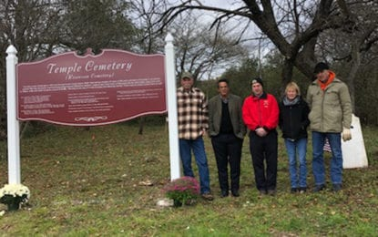 Erieville historic cemetery new sign dedicated, missing headstones discovered
