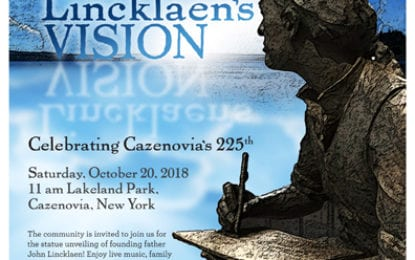 John Lincklaen statue to be unveiled Oct. 20