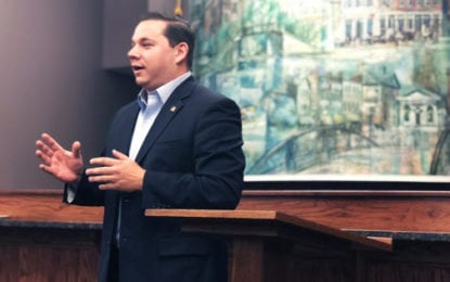 New county executive holds first town hall meeting in Fayetteville