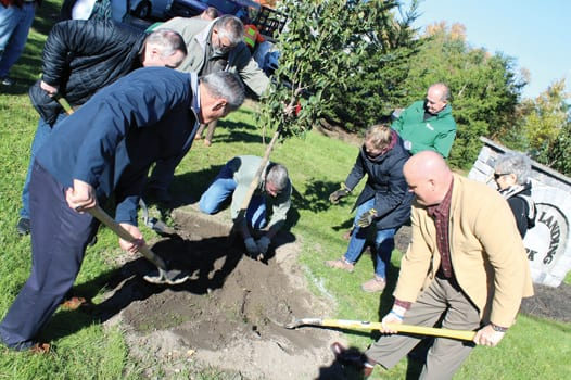 Tobin, Skinner honored with tree planting in Fayetteville