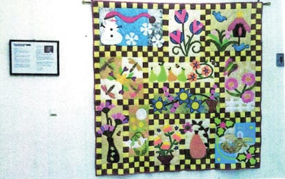 Locally made quilt goes international