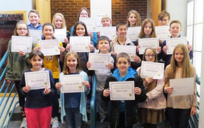 Middle school first quarter Citizens of the Quarter announced
