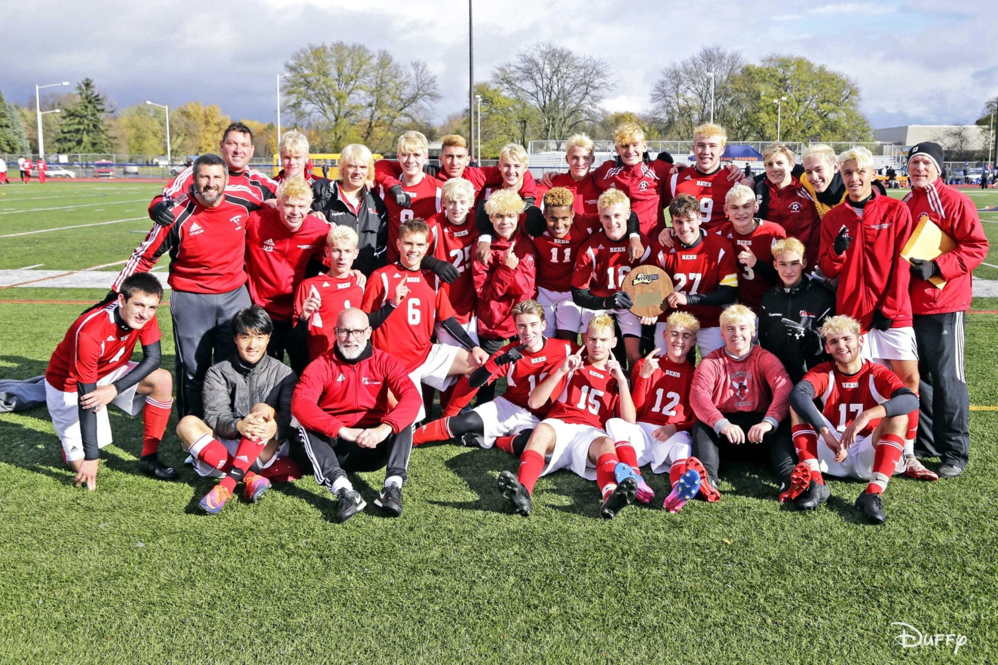 Boys soccer Bees earn berth in state Class AA final four