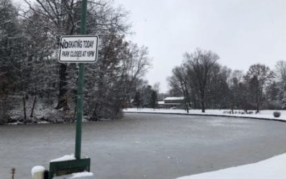 Fayetteville's Beard Pond ice skating remains at residents' own risk