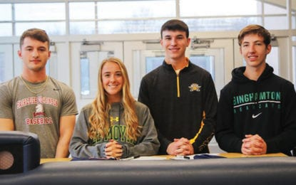 Four from ESM sign National Letters of Intent