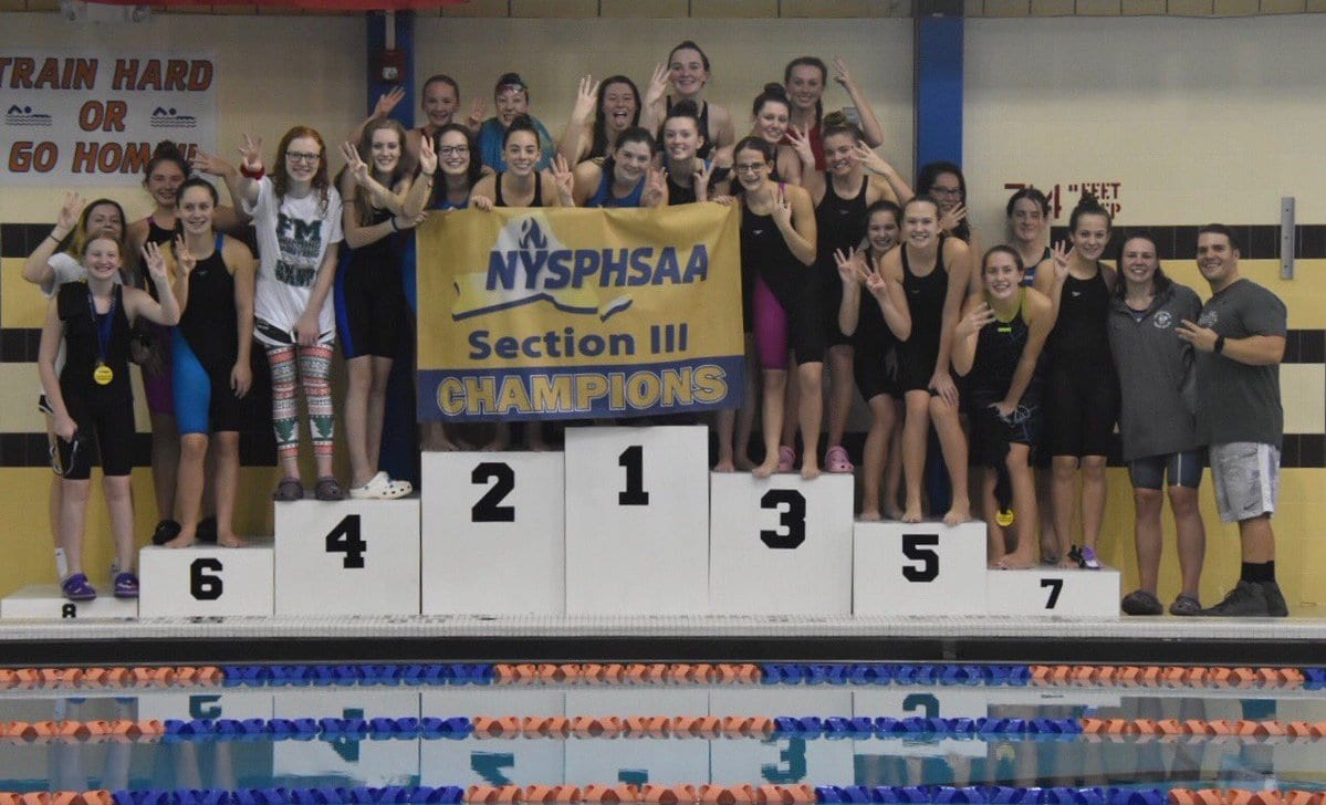 F-M girls swimmers charge to third straight sectional title
