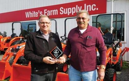 White's Farm Supply, Inc. recognized with Kubota Elite Award of Excellence