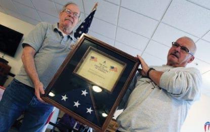 Veterans recognized at Onondaga Center, flag donated by Sen. Gillibrand