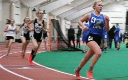 Indoor track girls win DiMao invitational