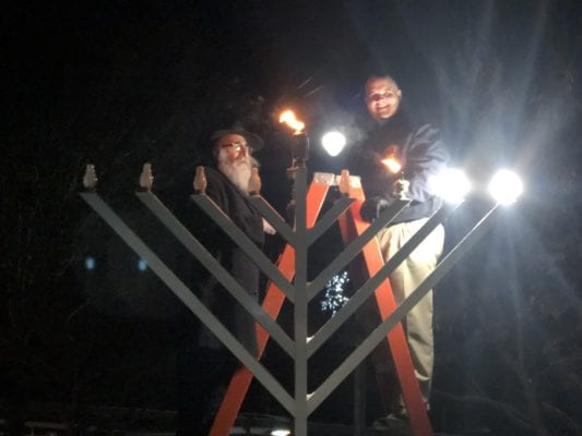 Third day of Hanukkah celebrated with Menorah lighting in Fayetteville