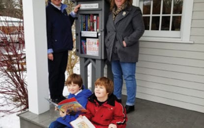 Little Free Library installed in Nelson