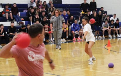 High school dodgeball tourney raises nearly hundreds of dollars for local families