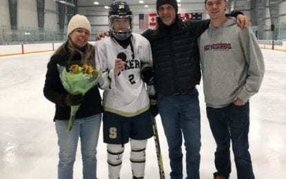 Teachout reaches 100 goals for girls hockey Lakers