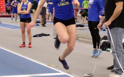 Girls indoor track Lakers end on high note