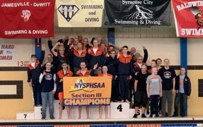 Boys swim Warriors repeat as sectional Class A champs